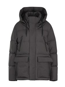 Herno - Hooded down jacket in grey