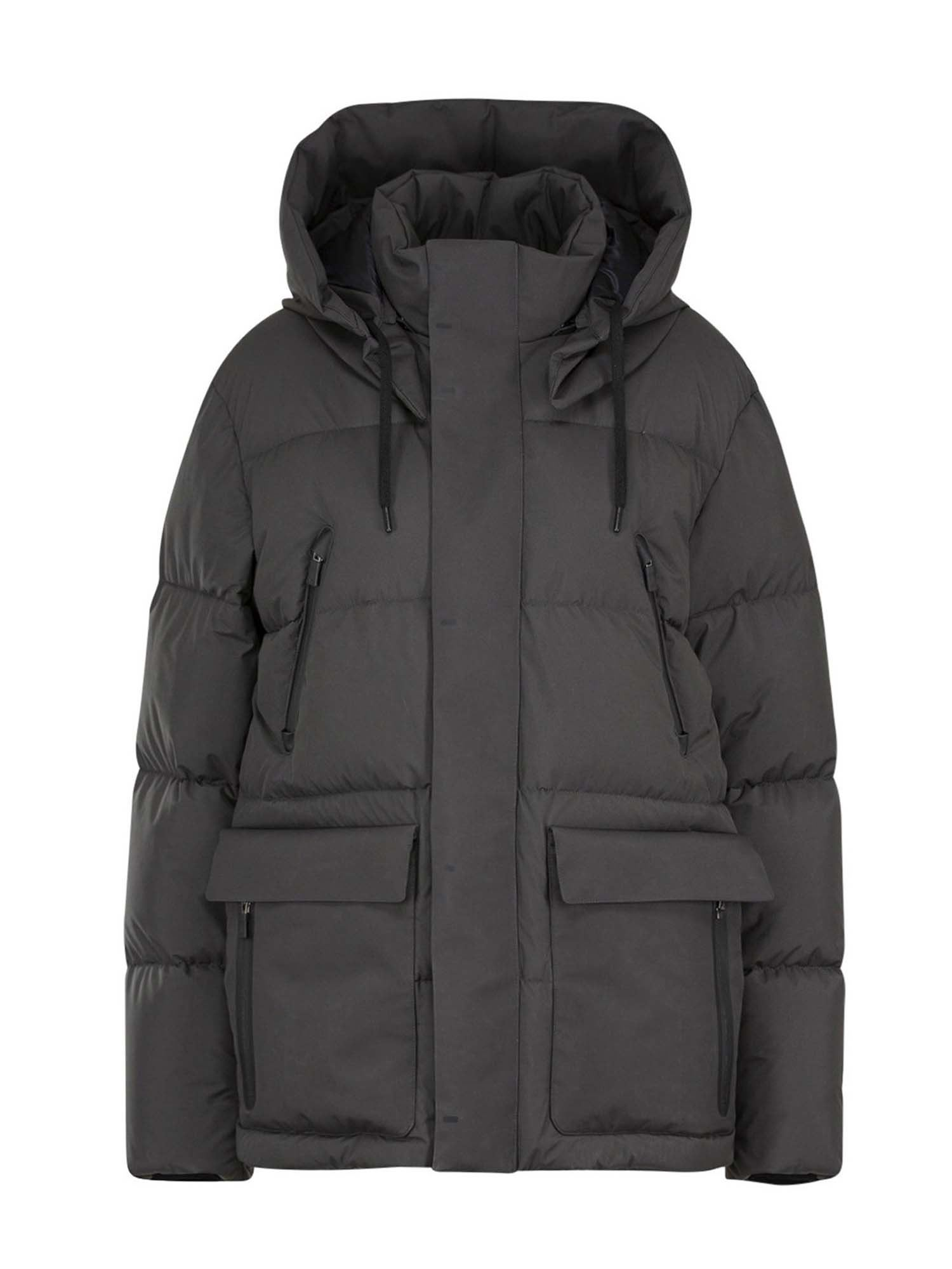 Herno HOODED DOWN JACKET IN GREY