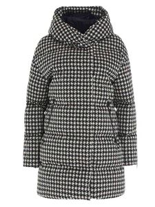 Herno - Pied de poule down jacket in white and black
