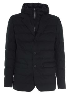 Herno - Single-breasted down jacket in black