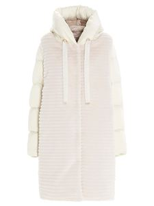 Herno - Synthetic fur down jacket in white