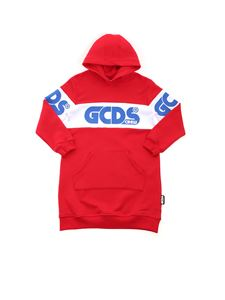 GCDS - White band oversized sweatshirt in red