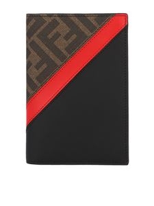 Fendi - FF and red band passport cover