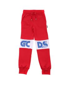 GCDS - Blue logo pants in red