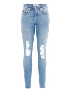 Givenchy - Logo printed jeans in light blue