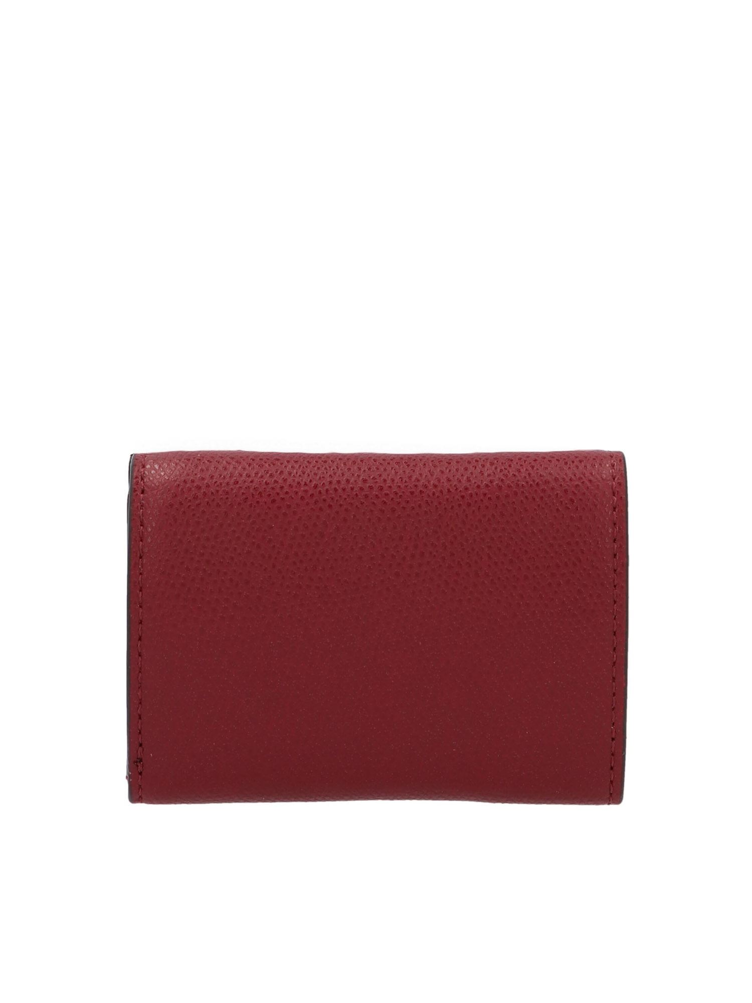 Fendi MICRO TRIFOLD WALLET IN RED