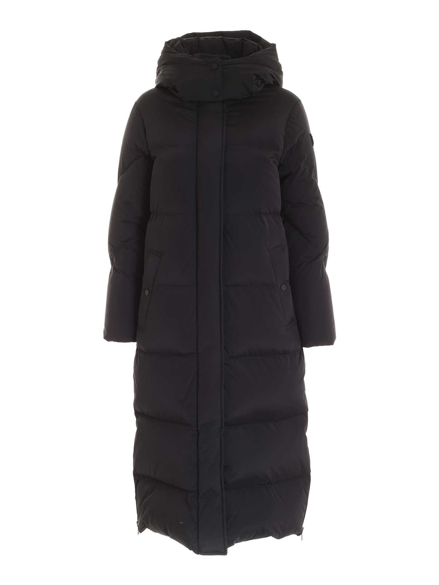Woolrich LONG AURORA DOWN JACKET IN BLACK