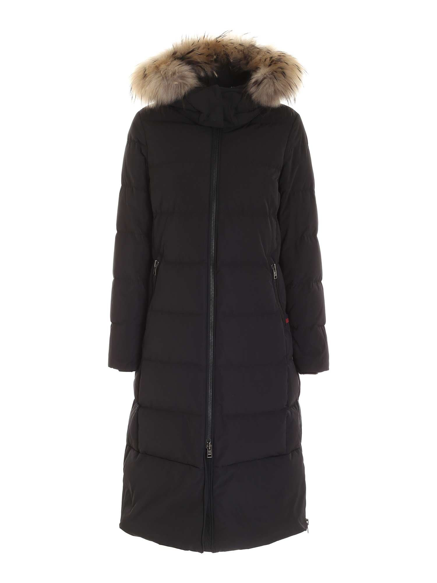 Woolrich LUXURY CYPRESS LONG DOWN JACKET IN BLACK