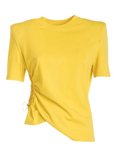 Amen - Structured shoulder T-shirt in yellow