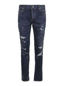 Balmain - Five pockets ripped jeans in blue