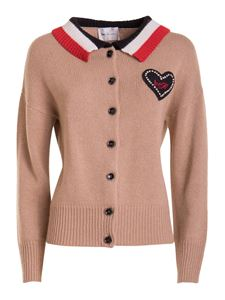 be Blumarine - Patches cardigan in brown