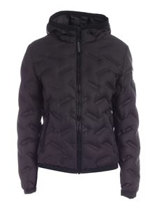 Colmar Originals - Quilted hooded down jacket in black