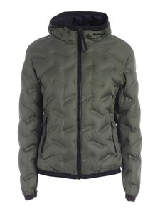 Colmar Originals - Quilted hooded down jacket in green