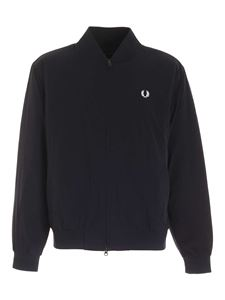 Fred Perry - Jacket with logo embroidery in black