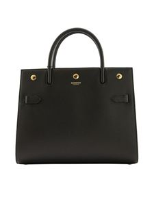 Burberry - Grainy leather bag in black