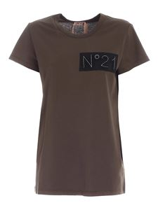 N° 21 - Logo patch t-shirt in green