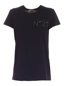 N° 21 - Logo patch t-shirt in black