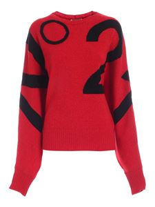 N° 21 - Black pattern pullover in red