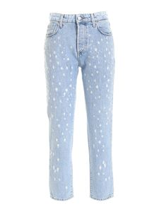 Department 5 - Destroyed effect jeans in light blue