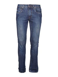 Etro - Embroidered stretch cotton jeans in blue