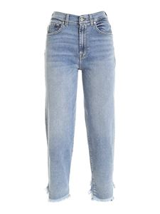 7 For All Mankind - Malia faded jeans in light blue