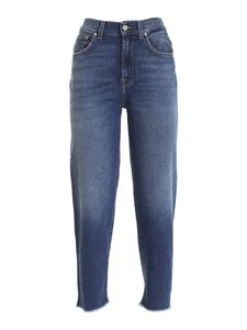 7 For All Mankind - Malia faded jeans in blue