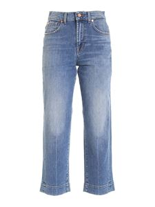 7 For All Mankind - The Modern Straight faded jeans in blue