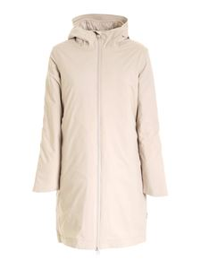 Save the duck - Hooded puffer jacket in beige