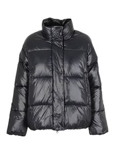 Save the duck - Semipolished nylon puffer jacket in black