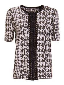 Roberto Cavalli - Houndstooth knitted T-shirt in black