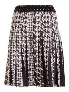 Roberto Cavalli - Houndstooth knitted skirt in black