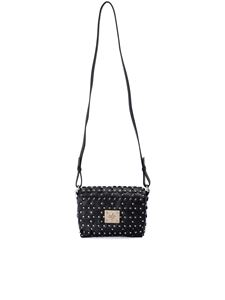 Red Valentino - Flower Puzzle small bag in black