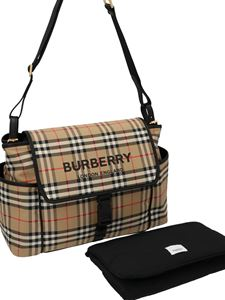 Burberry - Vintage check changing bag in beige