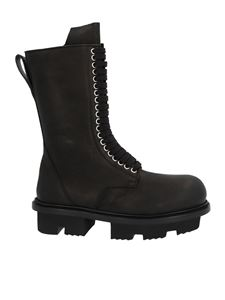 Rick Owens - Army Bozo Megatooth boots in black