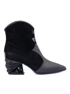 Loriblu - Sculpted heel ankle boots in black