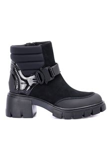 Loriblu - Padded ankle combat boots in black