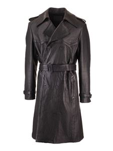 Givenchy - Trench in pelle nera