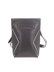 Givenchy - Triangle logo phone holder in black