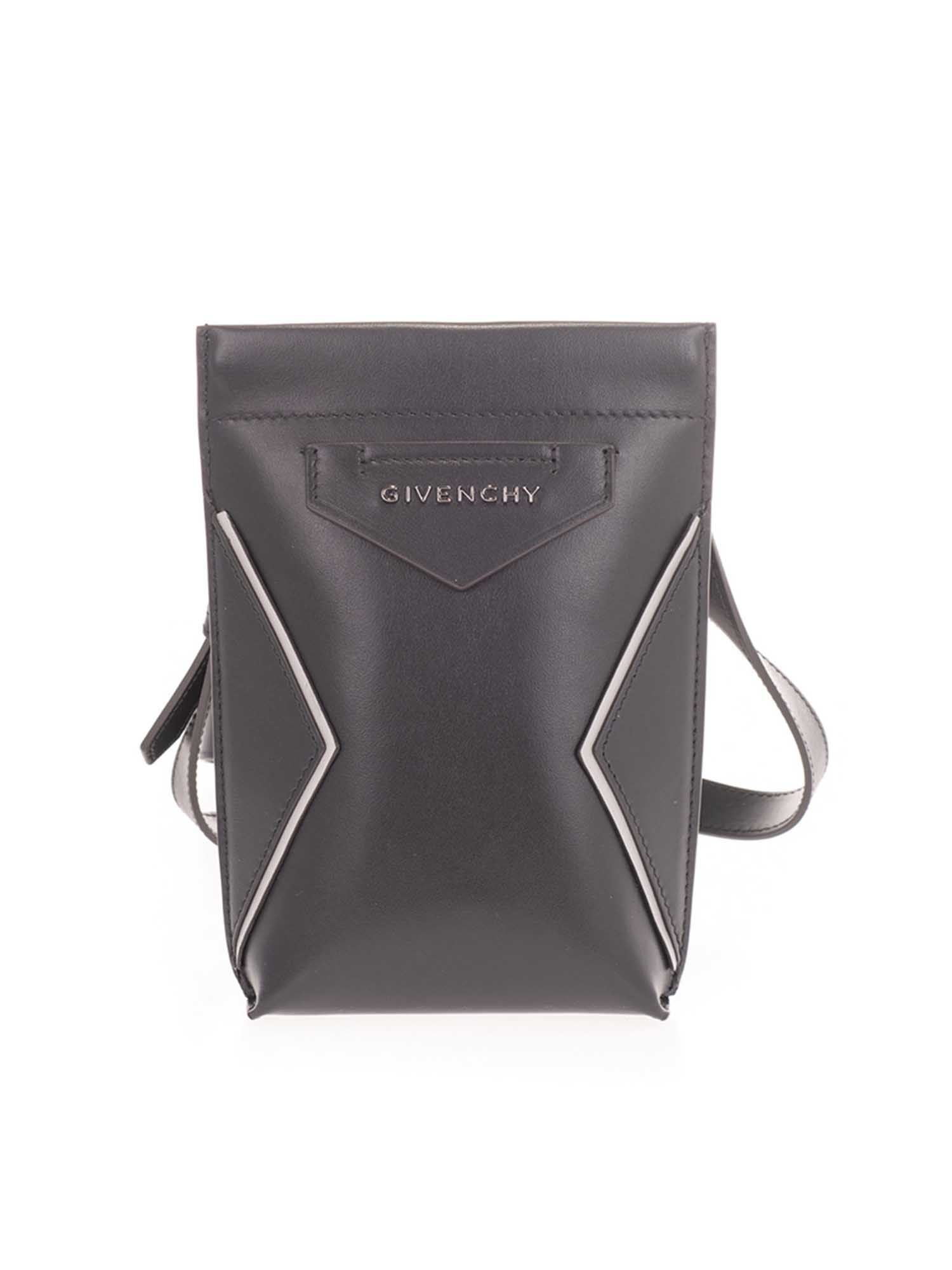 Givenchy Triangle Logo Phone Holder In Black