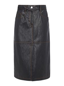 MSGM - Faux leather skirt in black