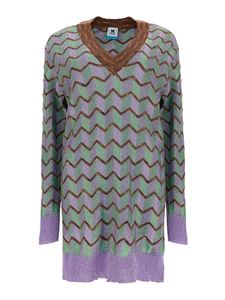 M Missoni - Chevron patterned mini dress multicolor