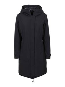 Herno - Tech fabric padded coat in black