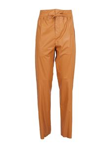 Isabel Marant - Duard faux leather trousers in orange