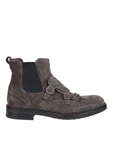 Doucal's - Suede Beatle boots in grey