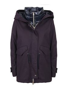 Herno - Hooded padded parka in blue