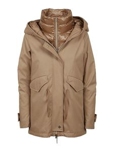 Herno - Hooded padded parka in beige