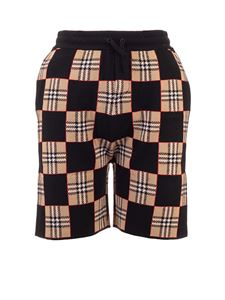 Burberry - Checkered shorts in beige and black
