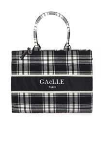 Gaelle Paris - Checked pattern shopper in black and white