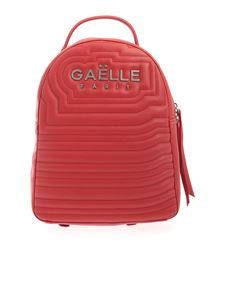 Gaelle Paris - Metal logo backpack in red