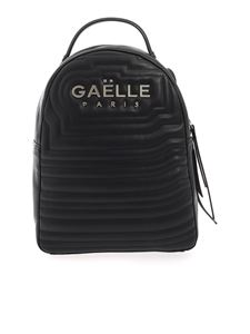 Gaelle Paris - Metal logo backpack in black